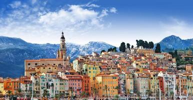 menton, gränsfranska Italien foto