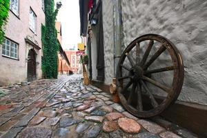 på centrala gatorna i Riga foto