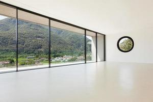 modern arkitektur, brett rum foto