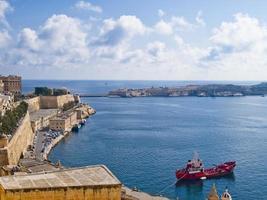 den stora hamnen i Valletta, Malta foto
