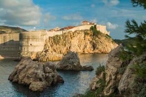 staden Dubrovnik, unesco-plats, försvarsmurar, fästningsbokar foto