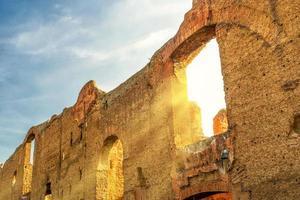 badkar av caracalla i Rom foto