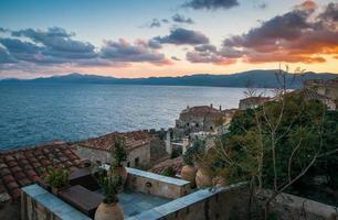 stadsbild på monemvasia, peloponnesos, Grekland foto