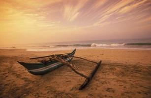 indiska havet Sri Lanka Negombo Beach foto