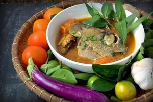 curry för fiskhuvud foto