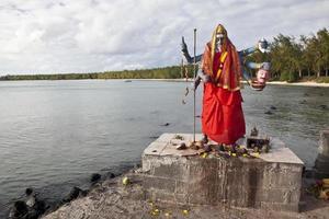 staty av kali, hinduisk gudinna, mauritiusön foto