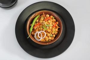 chana masala eller kryddig kikärter foto