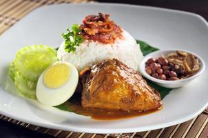 ris med kyckling curry foto
