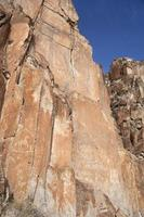 paiute petroglyphs i fremont Indian State Park Utah foto