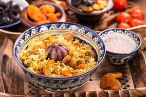 orientalisk ris pilaf foto
