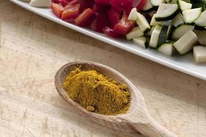 curry med grönsaker foto