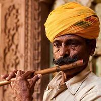 indisk musiker foto