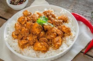indisk smör kyckling foto
