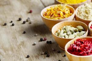 uppsättning kryddor foto