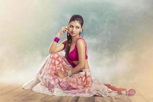vacker indisk brud foto