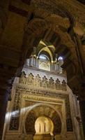 mihrab av la mezquita i cordoba, Spanien foto