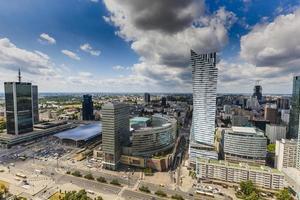 utsikt från observationsdäck i Warszawag foto