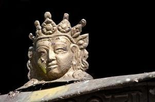litet buddha huvud foto