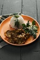lamm curry med ris foto