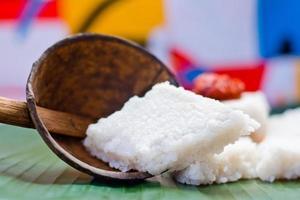 kiribath, mjölkriset är en traditionell srilankansk mat foto