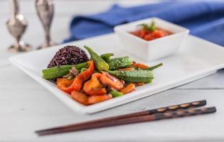 grönsaker med stigning foto