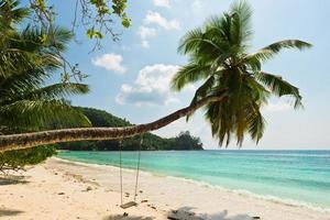 tropisk strand på Mahe Island Seychellerna