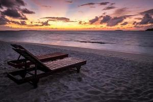 solstolar i Maldiverna foto