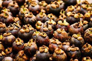 mangostan är en frukt i myanmar. foto