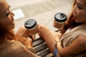kaffe och vänner foto