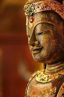 antik buddha staty foto
