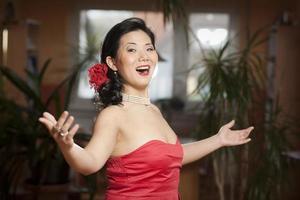 kinesisk sångare foto