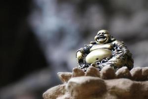 skrattande buddha foto