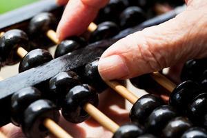 kinesisk abacus foto
