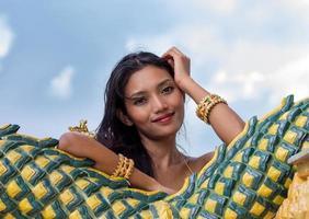 porträtt av den thailändska damen foto