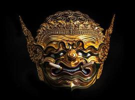 "khon mask av Thailand. ""Pra pi rap"" (jätte) foto"