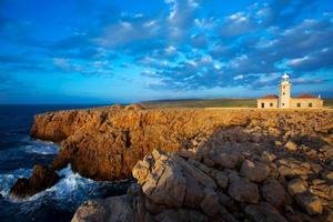 menorca punta nati faro fyrar baleariska öar foto