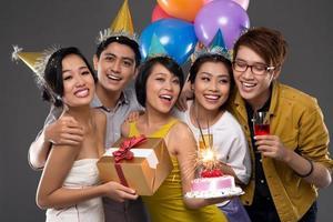 glada vänner foto