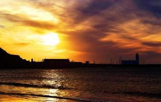 soluppgång över scarborough foto