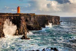isländska kusten foto