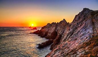 solnedgång i slutet av världen foto