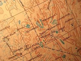 antik karta, Lake Tahoe område foto
