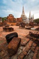 thailändska forntida ruin foto