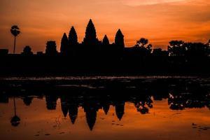 Angkor wat slott.