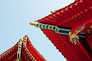 wenwu templetak i solnedgången Taiwan foto