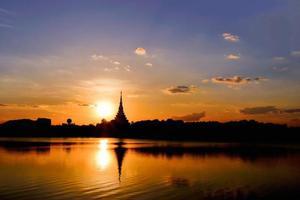 silhuett tempel foto