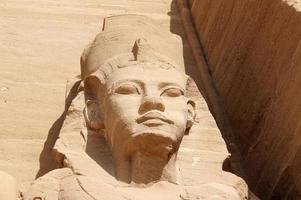 detalj tempel av rameses ii. abu simbel, Egypten.
