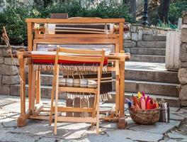 gammaldags vävstol foto