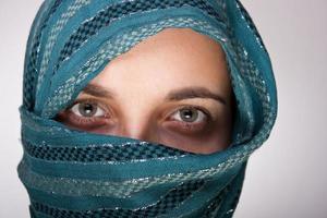 europeisk muslimsk kvinna foto