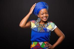 afrikansk modekvinna foto