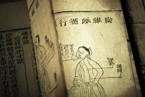 gammal medicinbok från qingdynastin foto